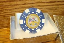 "Department Of The ARMY design Aluminum Poker Chip Money Clip 1"" Dome image  blu"