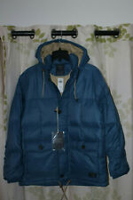 Abercrombie&Fitch Men's 600 Down Puffer Jacket Coat Hooded Blue $220 NEW XL