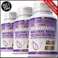 Menopause Relief Pills Hot Flashes Night Sweats Pueraria Mirifica Multi Symptom