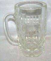 """Clear Glass Heavy Beer or Cold Drink Mug etched """"JOHN"""""""