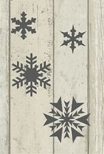 A5 Stencil Snowflakes, Shabby Chic, French, Furniture, Fabric, Vintage