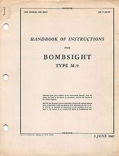 1945 M-9 Norden Bombsight Maintenance Manual World War II Book Flight Manual -CD