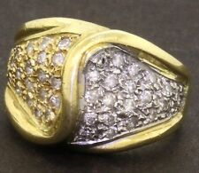 Heavy 18K gold elegant .42CT VS1/F diamond cluster cocktail ring size 4.5