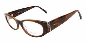 Prada VPR03P TORTOISE BROWN MAU-1O1 Plastic Eyeglasses Frame 53-17-140 ITALY NEW