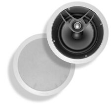 POLK AUDIO SC80-Ipr 8' In-Ceiling Home Audio Speakers, White, 100 Watts (1 Pair)