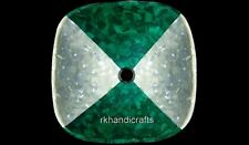 15 x 15 Inches Marble Bathroom Vessel with Malachite Stone Work Kitchen Vessel