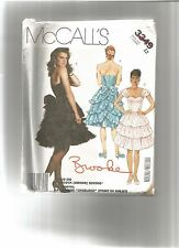 McCall's 3349 Misses VINTAGE Ruffled Party Prom Dress Brooke Shields SZ 12 ©1987