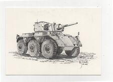 Alvis Saladin FV601 1953 6x6 Armoured Car - Military Vehicle Postcard