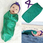 Newborn Baby Girls Mermaid Crochet Knit Costume Photo Photography Prop Outfits