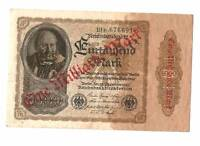 1922 Germany Weimar Republic 1 billion / 1.000.000.000 mark banknote OVERPRINT