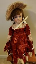 """20"""" French Antique Repro Doll Bisque Head Compo Body Glass Eyes A14T """"Heather"""""""