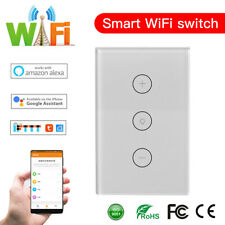 WIFI Smart Dimmer Light Switch Wall Touch Panel For Alexa Google Home