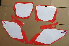 FLU  WHITE NUMBER PLATE  BACKGROUNDS HONDA 2002-2008  CR125 CR125R  CR250 CR250R