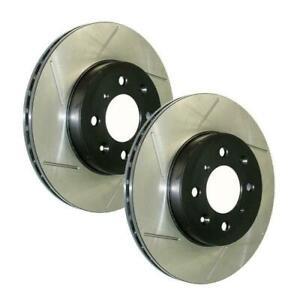 StopTech Power Slot Front Brake Rotors for 07-09 Mini Cooper Base - 126.34100S
