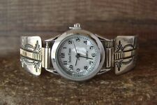 Native American Indian Jewelry Sterling Silver 14K Gold Fill Lady's Watch - B