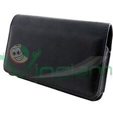 Custodia Clip Cintura passante eco pelle NERA per Samsung Galaxy Alpha G850F 4BF