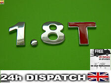 1.8 T Alliage Aluminium 3D Emblem Badge Sticker Decal pour Vw Ford Audi A4 A5 TT