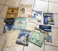 MIXED JOB LOT OF MUSIC SHEETS and SONGBOOKS FOR THE PIANO 1930's 1940's