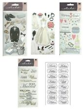 WEDDING Bride Groom Party Cake Dance Reception Newlyweds Mr Mrs Sticko Stickers