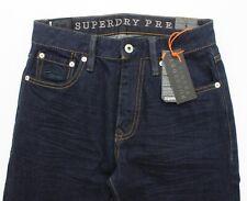 Superdry Premium Slim Tyler Selvedge Dark Wash Mens Denim Jeans BNWT - W27 L31