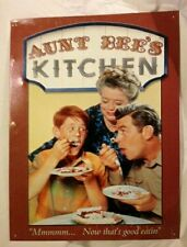 Aunt Bee's Kitchen TIN SIGN Metal Wall Decor Vtg TV andy Griffith Show 808