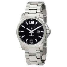Longines Conquest Black Dial Stainless Steel Mens Watch L37604566
