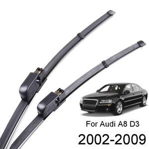 2Pcs Windshield Windscreen Wiper Blades Front Window Fit For Audi A8 S8 D3 02-09