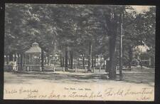 Postcard LEE Massachusetts/MA  Town Park Gazebo Band Stand & Houses view 1906