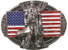 Western American Flag Cowboy Rodeo Man BELT BUCKLE Texas Cowboy Gift