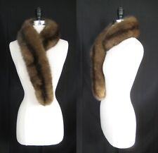 Russian Barguzin SABLE Fur Scarf , Luxury Velvet Shawl Mink Stole Capelet Gift