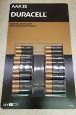 32 Pk AAA DURACELL  Alkaline Batteries - Exp 2028 - New Box - US Free Shipping