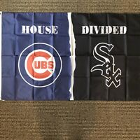 MLB Chicago Cubs/White Sox House Divided New Flag 3' x 5' Metal Grommets