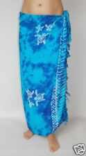NEW UNISEX BLUE TIE DYE SARONG COVER UP WRAP PAREO TURTLE SEA PRINT BNIP / sa268