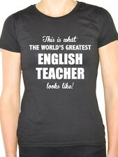 WORLDS GREATEST ENGLISH TEACHER -Literature / Language Themed Women's T-Shirt