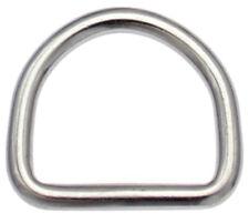 10 St. D-Ringe 25mm x20x3,9 EDELSTAHL Niro Halbrund Ring D Ring D-Ring D Ringe -