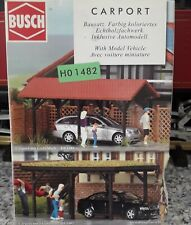 BUSCH 1482  HO / OO gauge - flat roof car port & car