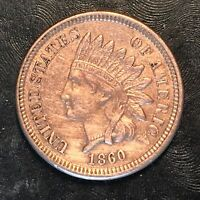 1860 Indian Cent - Copper Nickel - High Quality Scans #H054