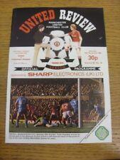 13/11/1982 Manchester United v Tottenham Hotspur  (Slight Fold). Any faults with