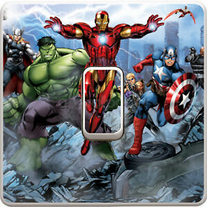 Marvel Iron Man Floating Light Switch Sticker Decal, Gaming, Kids Bedroom #8