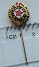 FC PARTIZAN Belgrade old badge 3d pin anstecknadel 60's of the last century rare