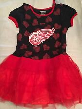 Detroit Red Wings NEW Youth Girls Medium Tutu Flyers Dress . NHL Hockey Fan Cute