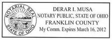 Ohio - Notary for Ohio State Self ink Rectangle Notary Rubber Notary Stamp Ohio
