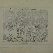 "7x10"" punch cartoon 1850 THE CIRCUS AT ASTLEYS"
