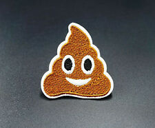 Poop Emoji Cute Funny Embroidered Iron On Sew On Patches Badges Transfers Patch