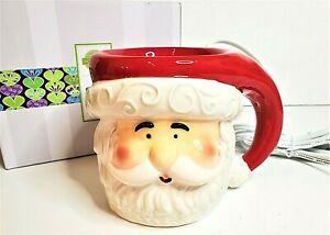 Scentsy Home Christmas Holiday Santa Merry Mug Wax Warmer with Box Plug In