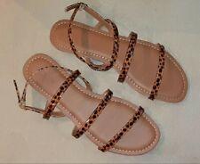J. Crew Tortoise Ankle-Strap Sandals - 9 - Nib