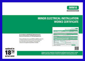 Minor Electrical Works Certificates