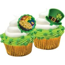 Top Hat and Pot O' Gold Pics Cupcake Topper Irish Green Saint Patricks