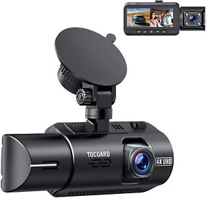TOGUARD Dual Dash Cam 4K Front and 1080P Inside Cabin Dual Lens Car Dash Camera
