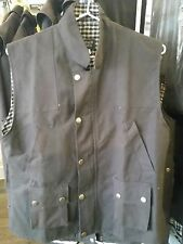 LONGREACH OIL SKIN VEST / Cotton Lined Small